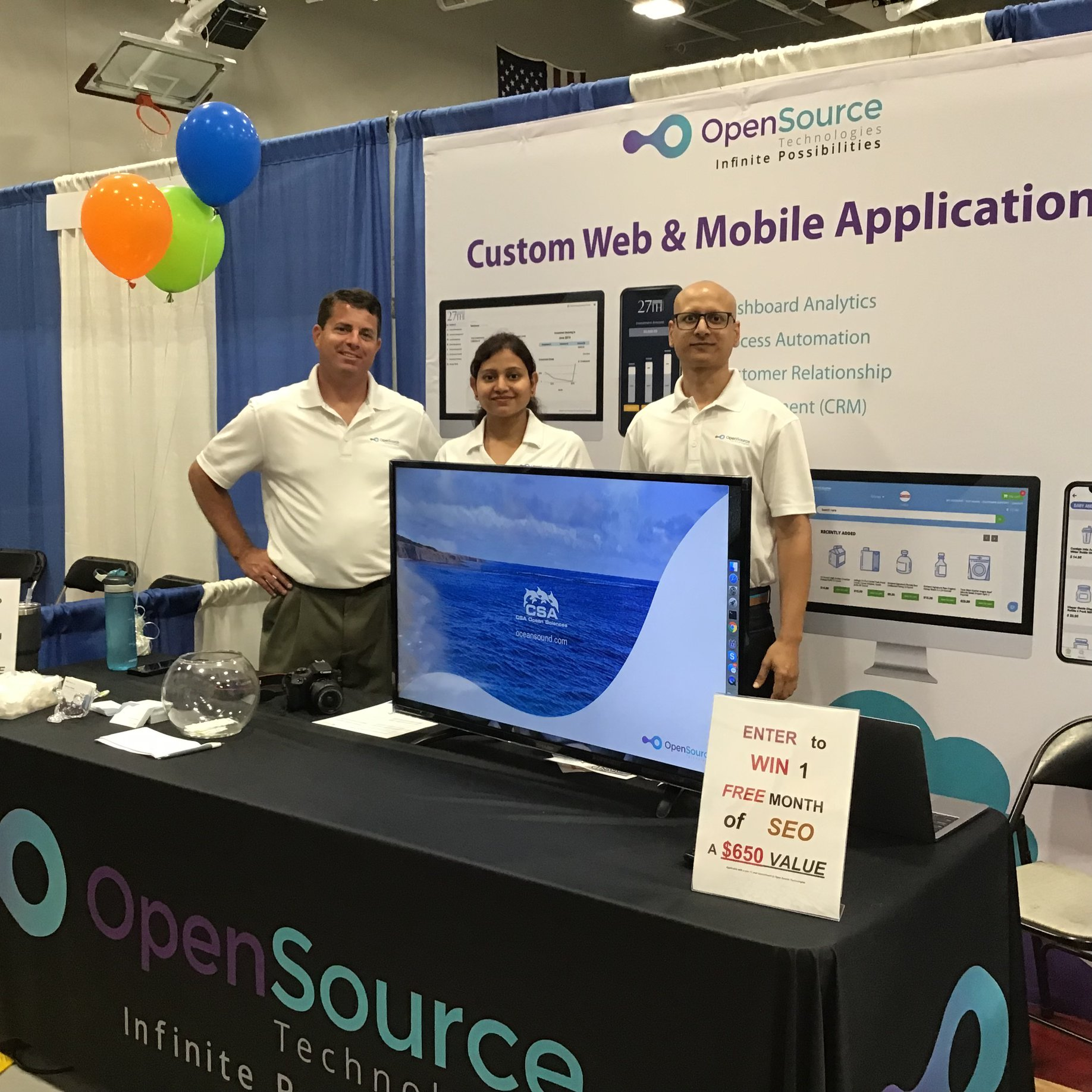 OpenSource Technologies (OST)  Meets The Public At The Montgomery County Business Expo